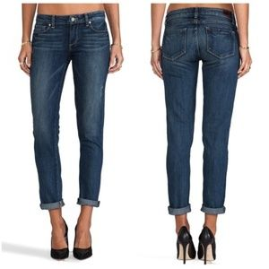 Paige Skyline Ankle Peg Distressed Denim Jeans 29